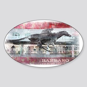 barbaro Sticker (Oval)